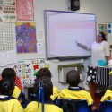 New electronic white boards  to help the children.